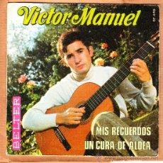 Discos de vinilo: VICTOR MANUEL MIS RECUERDOS UN CURA DE ALDEA BELTER. Lote 37286061