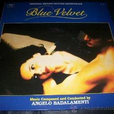 Discos de vinilo: LP - BLUE VELVET BSO - DAVID LYNCH - SIN ENCARTE - . Lote 37287918