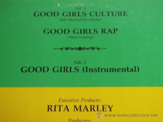 Discos de vinilo: RITA MARLEY ( GOOD GIRLS CULTURE - GOOD GIRLS RAP - GIRLS INSTRUMENTAL ) JAMAICA-1984 - Foto 3 - 37292837