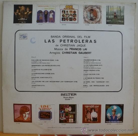 Discos de vinilo: FRANCIS LAI B.S.O. LAS PETROLERAS (LP BELTER 1972) CLAUDIA CARDINALE · MICHELINE PRESLE - Foto 2 - 37297140