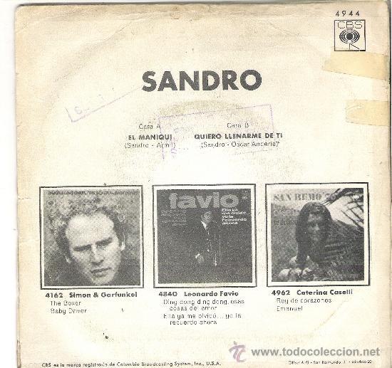 Discos de vinilo: PARTE TRASERA CON LAS CANCIONES - Foto 2 - 37299491