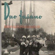 Discos de vinilo: EP DUO FASANO : MINNAMORO AL CHIAR DI PUNA ( FESTIVAL SAN REMO 1958 + FESTIVAL BARCELONA 1958) . Lote 37300050
