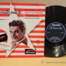 Discos de vinilo: 10 PULGADAS !! LIBERACE AL PIANO. CON PAUL WESTON Y ORQUESTA. CONCIERTOS PARA TÍ. LP PHILIPS.***/***. Lote 37301623