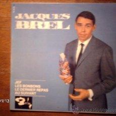 Discos de vinilo: JACQUES BREL - JEF + 3. Lote 37342909