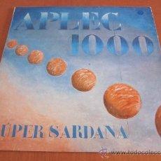 Discos de vinilo: APLEC 1000 LP ORIGINAL ESPAÑA 1986 SARDANES COBLES MEDITERRANIA I PRINCIPAL DE LLOBREGAT. Lote 37308351