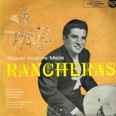 Discos de vinilo: MIGUEL ACEVES MEJIA - RANCHERAS - LP 195?. Lote 37548820