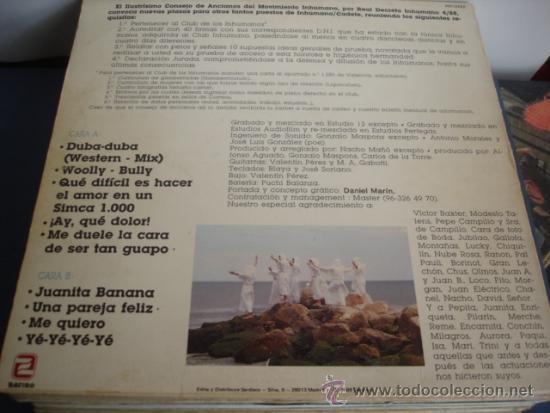 Discos de vinilo: LOS INHUMANOS 30 HOMBRES SOLOS - Foto 2 - 37333476