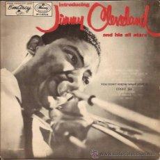 Discos de vinilo: EP SINGLE-JIMMY CLEVELAND-EMARCY 16534-SWEDEN-195???-JAZZ. Lote 37335044