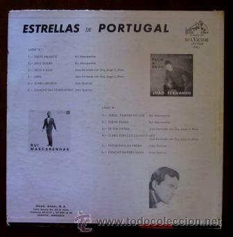 Discos de vinilo: ESTRELLAS DE PORTUGAL - RUI MASCARENHAS, JOAO FERNANDO Y JOAO QUEIROZ - EDITADO EN VENEZUELA - Foto 2 - 37338402