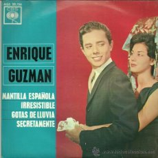 Discos de vinilo: ENRIQUE GUZMAN EP SELLO CBS EDITADO EN ESPAÑA AÑO 1963. Lote 37340247