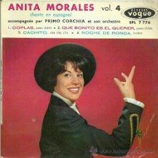 Discos de vinilo: ANITA MORALES EP SELLO VOGUE EDITADO EN FRANCIA . Lote 37349355