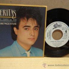 Discos de vinilo: TIJERITAS CON LOS CHUNGUITOS. CAMBIA DE FORMA DE SER. SINGLE EPIC - PROMO 1986. IMPECABLE. ****/****. Lote 71695837