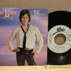 Discos de vinilo: JOHNNY LOGAN. POR UN AÑO MÁS. EUROVISIÓN 1980. SINGLE PROMO. IMPECABLE. ****/****. Lote 37354994