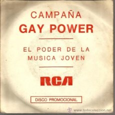 Discos de vinilo: EP PROMO CAMPAÑA GAY POWER : LOU REED + THE SWEET + THE KINKS . Lote 37363238