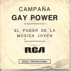 Discos de vinilo: SINGLE PROMO CAMPAÑA GAY POWER : DAVID BOWIE. Lote 37363270