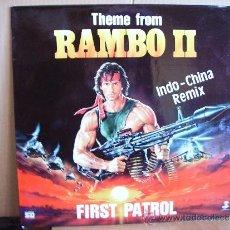 Discos de vinilo: FIRST PATROL --- THEME FROM RAMBO II. Lote 37366887