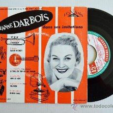 Discos de vinilo: JEANNE DARBOIS - DANS SES IMITATIONS / AVEC ANDRE POPP (EP FONTANA 1956) FRANCIA. Lote 37371621