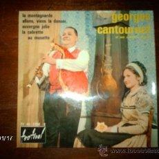 Discos de vinilo: GEORGES CANTOURNET ET SON ORCHESTRE REGIONAL AVEC JEAN CAMBON - LA CABRETTE AU MUSETTE + 3. Lote 37381664