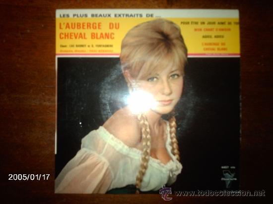 LUC BARNEY - GUY FONTAGNERE / L´ALBERGE DU CHEVAL BLANC / ADIEU, ADIEU + 3 (Música - Discos de Vinilo - EPs - Orquestas)