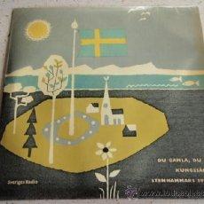 Discos de vinilo: STOCKHOLMS FILHARMONIKER ( DU GAMLA, DU FRIA - SVERIGE - KUNGSSANGEN -... ) SWEDEN EP45 SVERIGES . Lote 37387091