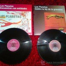 Discos de vinilo: LOS PLANETAS - ENCUENTROS CON ENTIDADES / CONTRA LA LEY DE LA GRAVEDAD (FORMATO VINILO). Lote 37402609