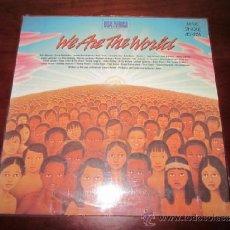 Discos de vinilo: WE ARE THE WORLD. VINILO MAXI SINGLE 45 RPM. MICHAEL JACKSON AND LIONEL RICHIE. USA FOR AFRICA.. Lote 37404808