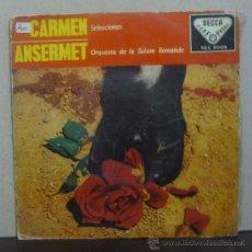 Discos de vinilo: ERNEST ANSERMET Y ORQUESTA DE LA SUISSE ROMANDE - CARMEN - SUITE (SELECCIONES) - EP DECCA 1959. Lote 37406061