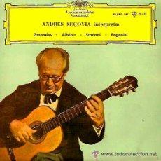 Discos de vinilo: ANDRÉS SEGOVIA - GRANADOS, ALBÉNIZ, SCARLATTI, PAGANINI - EP 1961. Lote 37414762