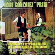 Discos de vinilo: JOSÉ GONZÁLEZ, PRESI - CAMPANINES DE MI ALDEA - 1969 - EXCELENTE ESTADO. Lote 37415045