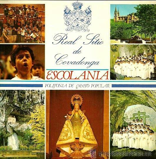REAL SITIO DE COVADONGA - ESCOLANÍA - POLIFONÍA DE CANTO POPULAR ASTURIANO (Música - Discos - Singles Vinilo - Otros estilos)