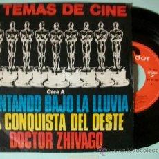 Discos de vinilo: SINGLE 6 TEMAS DE CINE CANTANDO BAJO LA LLUVIA / LA CONQUISTA DEL OESTE / DOCTOR ZHIVAGO. Lote 37420840