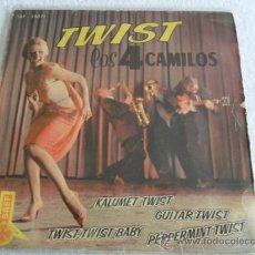 Discos de vinilo: LOS 4 CAMILOS - KALUMET TWIST + 3 EP 1962. Lote 37423419