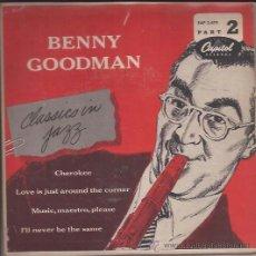 Discos de vinilo: EP-BENNY GOODMAN-CLASSIC IN JAZZ-CAPITOL 2 479-195??-USA. Lote 37424409
