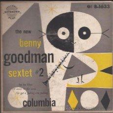 Discos de vinilo: EP-BENNY GOODMAN SEXTET VOL.2-COLUMBIA 1633-USA-195???-SWING JAZZ. Lote 37424634