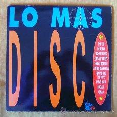 Discos de vinilo: DOBLE LP . LO MAS DISCO . ARIOLA 1991. Lote 37426782