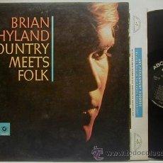 Discos de vinilo: BRIAN HYLAND / COUNTRY MEETS FOLK 1964 !! PSYCH FOLK, ORIG. EDIT. USA !! TODO EXC !!!!. Lote 37445052