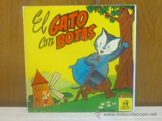 EL GATO CON BOTAS - CON CUENTO ILUSTRADO // ODEON DSOE 16.396 / 1960. (Música - Discos de Vinilo - Maxi Singles - Música Infantil)