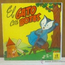 Discos de vinilo: EL GATO CON BOTAS - CON CUENTO ILUSTRADO // ODEON DSOE 16.396 / 1960.. Lote 37446782