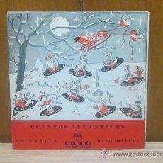 Discos de vinilo: CUENTOS INFANTILES LA RATITA ECGE 70065 COLUMBIA . Lote 37446905