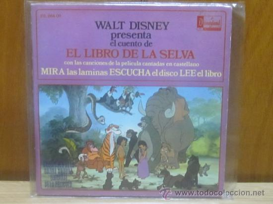 CUENTO EL LIBRO DE LA SELVA CON LIBRO Y DISCO (Música - Discos de Vinilo - Maxi Singles - Música Infantil)