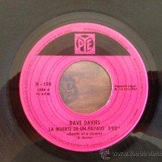 Discos de vinilo: DAVE DAVIES - SINGLE ESPAÑOL 1967 - THE KINKS - SOLO DISCO. Lote 37461501