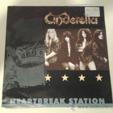 Disques de vinyle: CINDERELLA - HEARTBREAK STATION - HEAVY METAL HARD ROCK (PEDIDO MINIMO 6 EUROS). Lote 169775796