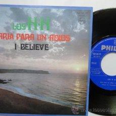Discos de vinilo: LOS H H ARIA PARA UN ADIOS/ I BELIEVE. SPANSIH SINGLE PROMO 1968. MINT. IMPECABLE. NUEVO.. Lote 37470257