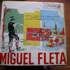 Discos de vinilo: EP ARAGON FOLK: MIGUEL FLETA : AMAPOLA, ARAGON LA MAS FAMOSA, TE QUERO, ETC. Lote 37474508