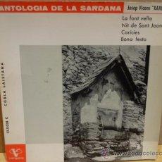 Discos de vinilo: ANTOLOGÍA DE LA SARDANA. JOSEP VICENS / EP - VERGARA - 1963 / LUJO. ****/****. Lote 37479782