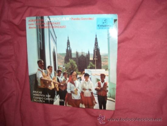AGRUPACION ARUCAS FAMILIA GONZALEZ CANTA CHECHA CANCION CANARIAS EP (Música - Discos de Vinilo - Maxi Singles - Étnicas y Músicas del Mundo)