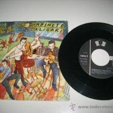 Discos de vinilo: GABINETE CALIGARI AL CALOR DEL AMOR EN UN BAR / REY O VASALLO (1986 DRO 3 CIPRESES) JAIME URRUTIA. Lote 37512215