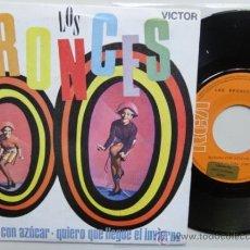 Discos de vinilo: LOS BRONCES.BANANA CON AZUCAR. SPANISH SINGLE PROMO 1969. MINT. IMPECABLE. NUEVO.. Lote 37513568