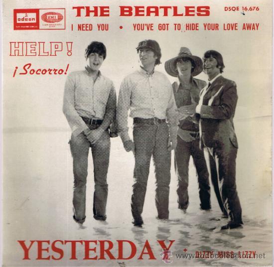 THE BEATLES - YESTERDAY - DIZZY MISS LIZZY - I NEED YOU - YOU'VE GOT TO HIDE YOUR LOVE AWAY - 1965 (Música - Discos - Singles Vinilo - Pop - Rock Internacional de los 50 y 60)