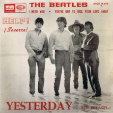 Discos de vinilo: THE BEATLES - YESTERDAY - DIZZY MISS LIZZY - I NEED YOU - YOU'VE GOT TO HIDE YOUR LOVE AWAY - 1965. Lote 37513540